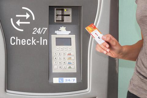 wholesale hotel self check in machine with card reader in villa-2