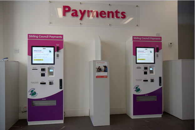 dual screen bill payment kiosk supplier in hotel