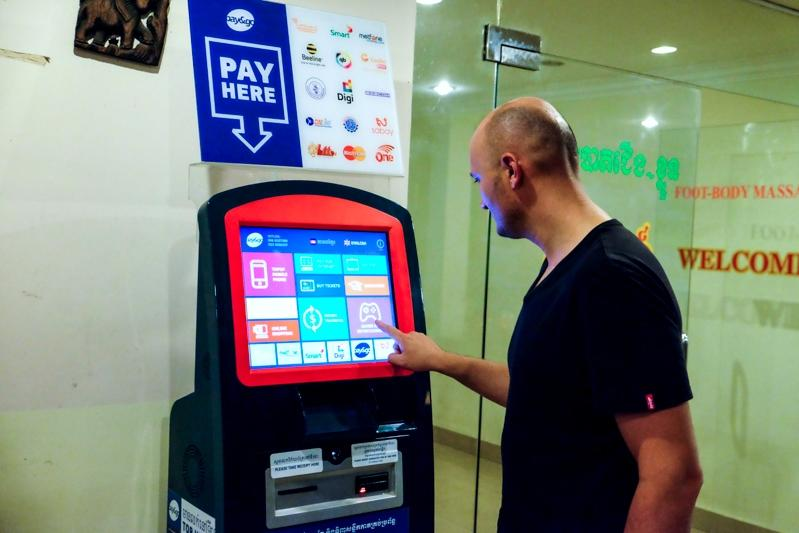 Hongzhou wall mounted automated payment kiosk machine in hotel-3