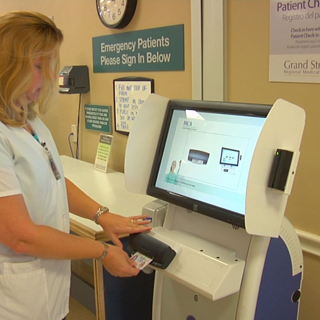 best patient check in kiosk metal in hospital-1