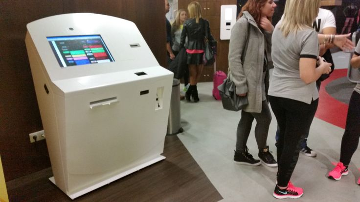 Hongzhou thermal information kiosk with printer in airport-1