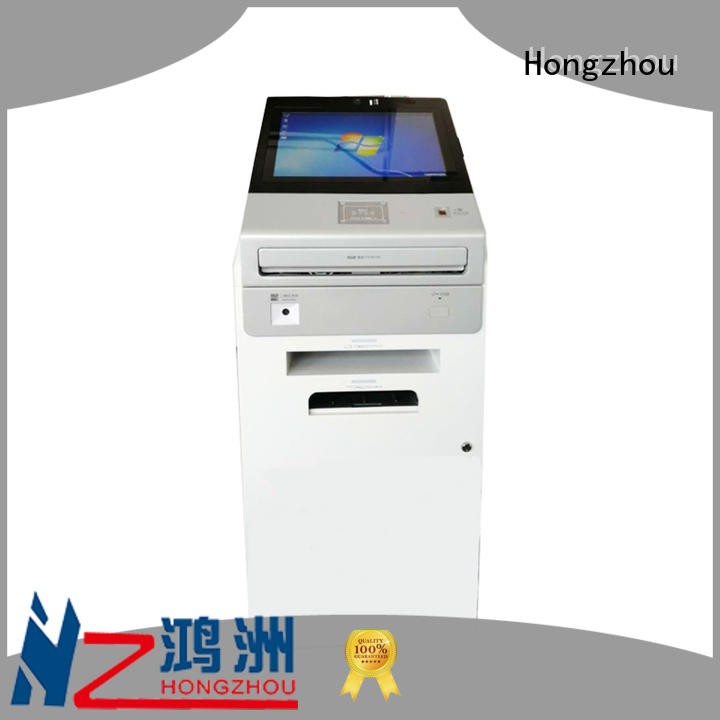Hongzhou touch screen information kiosk with printer in airport