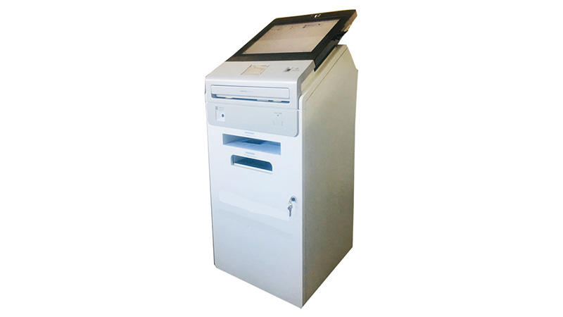 A4 printer bar-code card reader multi function self service kiosk in government-3