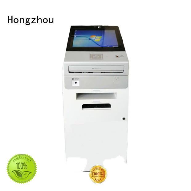 government information kiosk machine receipt in bar