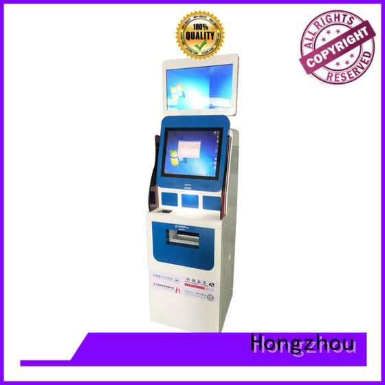 Hongzhou professional patient self check in kiosk operated in hospital