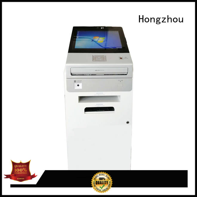 Hongzhou best touch screen information kiosk with camera in airport