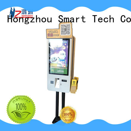 Hongzhou self ordering kiosk with printer for fast food store