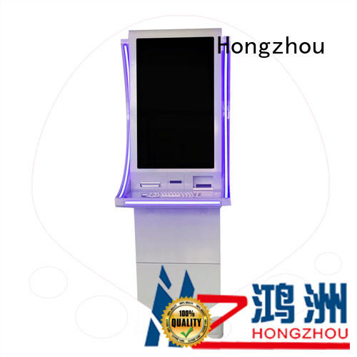 Hongzhou wall mounted bill payment kiosk coated for sale