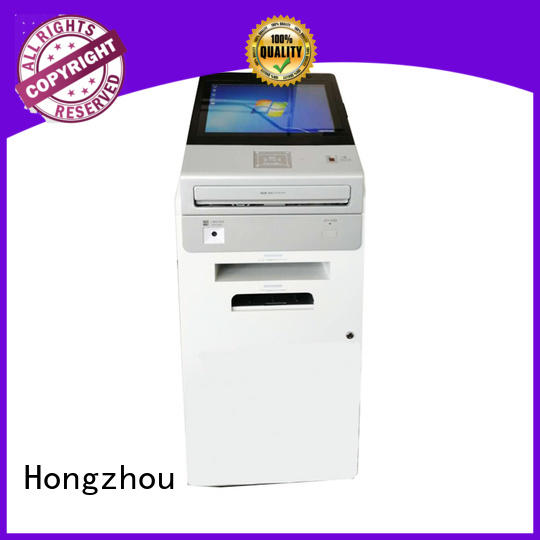 Hongzhou touch screen information kiosk with camera in airport