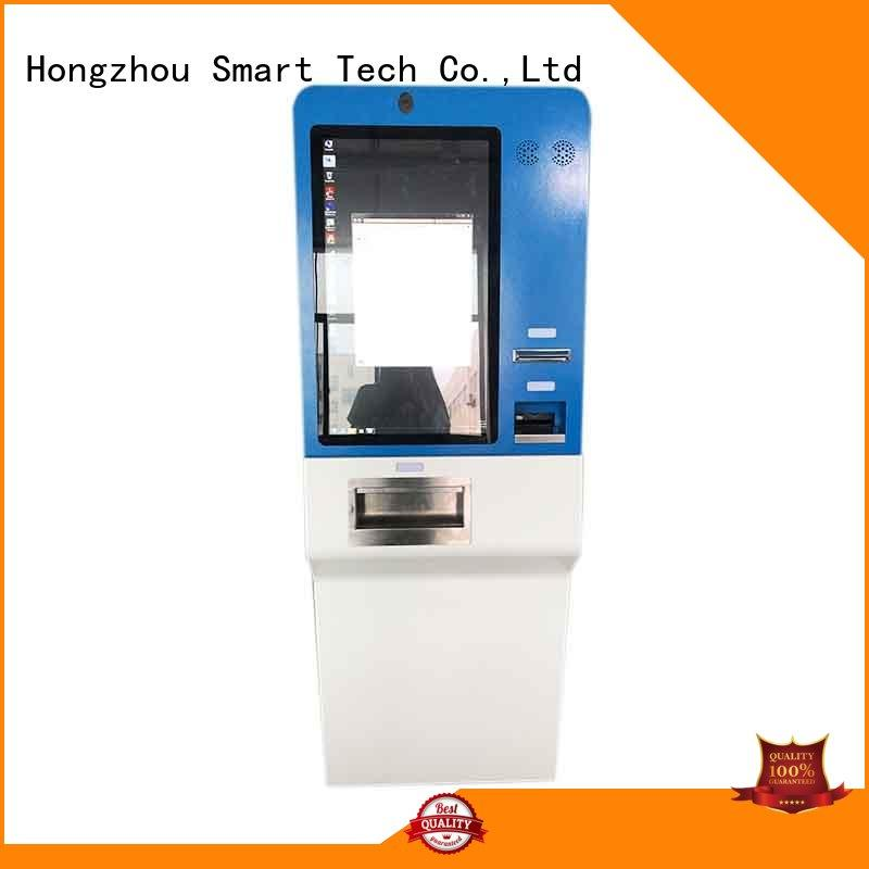 hd payment machine kiosk with laser printer in hotel