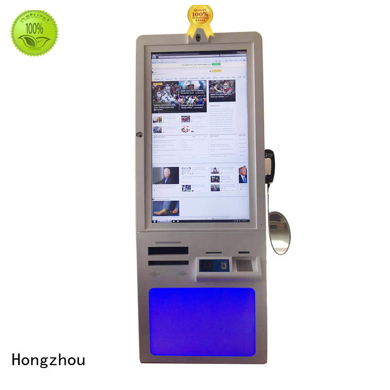 Hongzhou touch screen hospital kiosk key in hospital