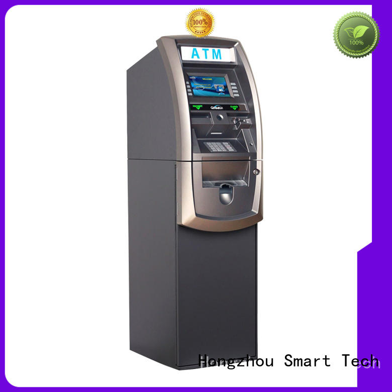 top money exchange kiosk with logo for transfer accounts