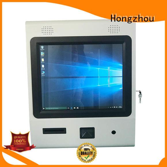 thermal digital information kiosk with printer in bar