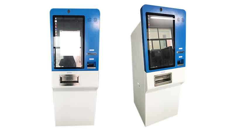 27 inch touch screen cash accept and dispenser payment kiosk with camera and thermal printer in shopping and hotel-1