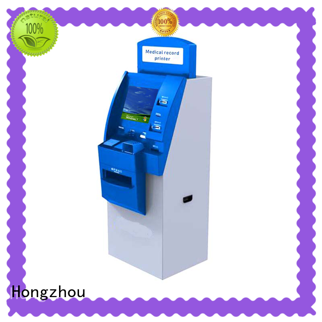 Hongzhou touch screen patient check in kiosk with coin for patient