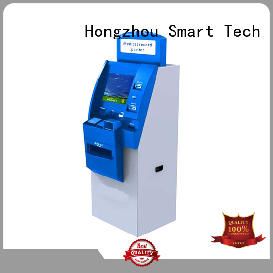 touch screen hospital check in kiosk with coin for patient
