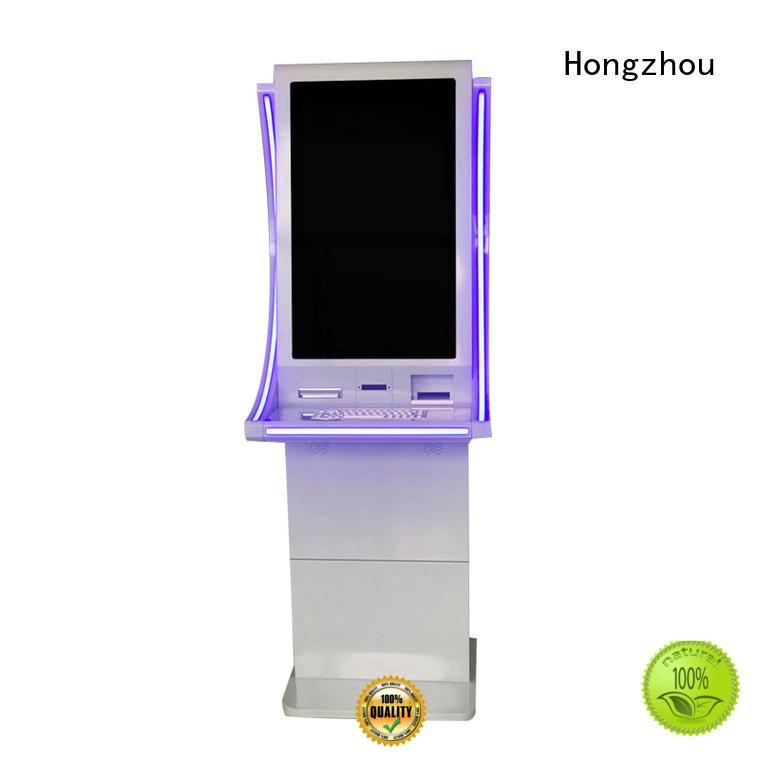 New elegant design 32 inch cash exchange kiosk Cash with LED light and Metal Keyboard