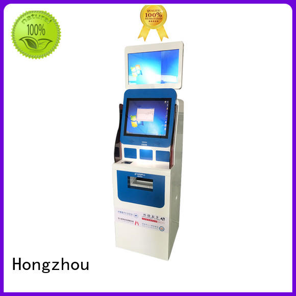 Hongzhou hot sale hospital kiosk with coin for patient
