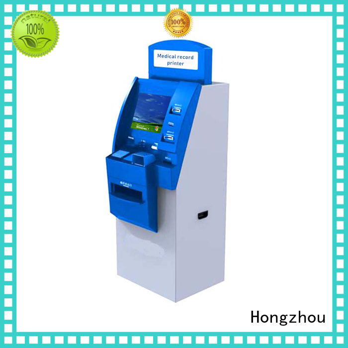 Hongzhou patient self check in kiosk factory for sale