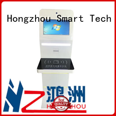 Hongzhou customized library information kiosk with id card reader in library