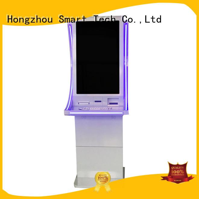 Hongzhou pay kiosk with laser printer in bank
