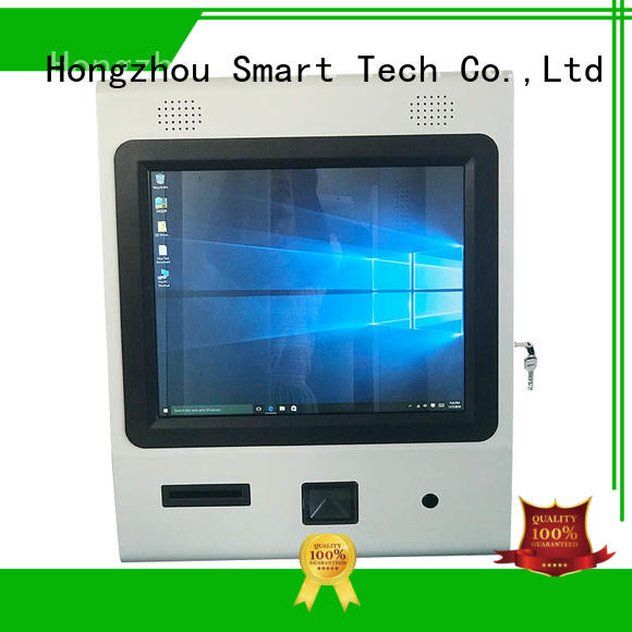 Hongzhou floor standing digital information kiosk with camera in bar